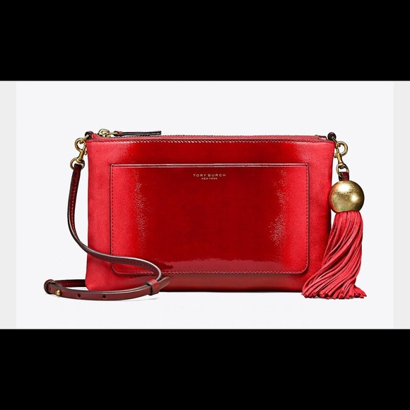 a80a650208142 Tory Burch Ombre Tassel Crossbody in Exotic Red